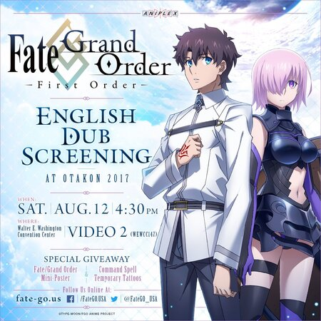 Fate/Grand Order -First Order- Official USA Website